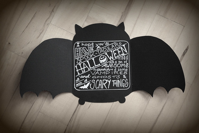 Halloween Bat cards