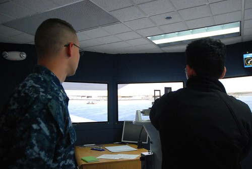 USS Shoup Junior Officers Experience Shiphandling Trainer