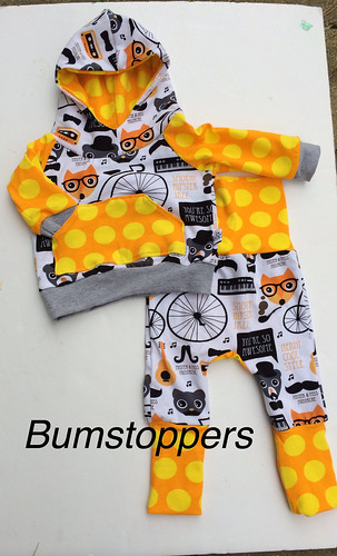 Bumstoppers BumSpot Pants 0-6 months 0-3 Hoodie Hipster Jazz