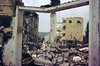 Wreckage at Ain el-Hilweh camp, May 1974