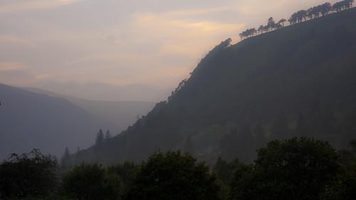 park county ireland sunset irish mist lake mountains colour beautiful fog forest woods nikon europe view hills glendalough national nikkor wicklow
