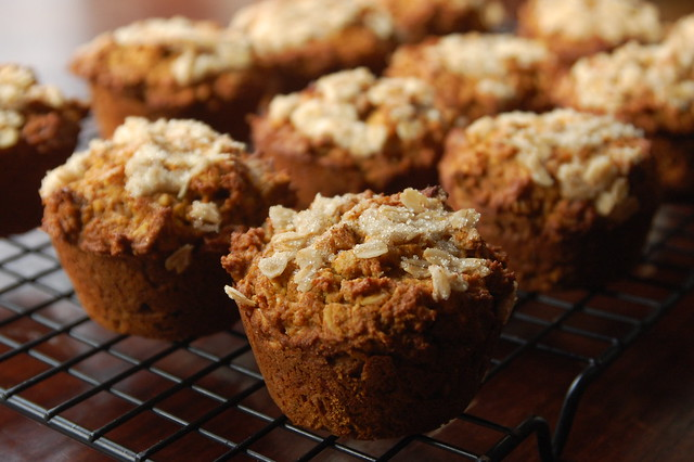 Buttercup Squash Muffins with Ginger and Oatmeal