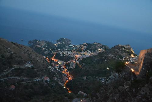Taormine, Sicile, vue de Castelmola