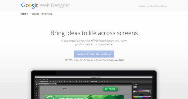Google Web Designer Tool