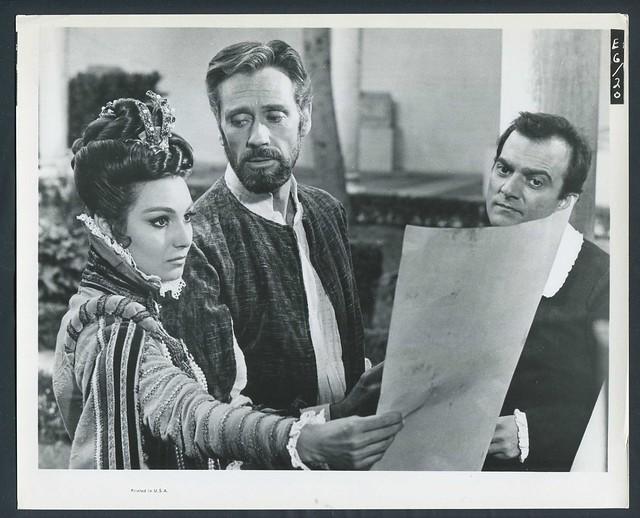 ROSANNA SCHIAFFINO, MEL FERRER and FRANCO GIACOBINI.