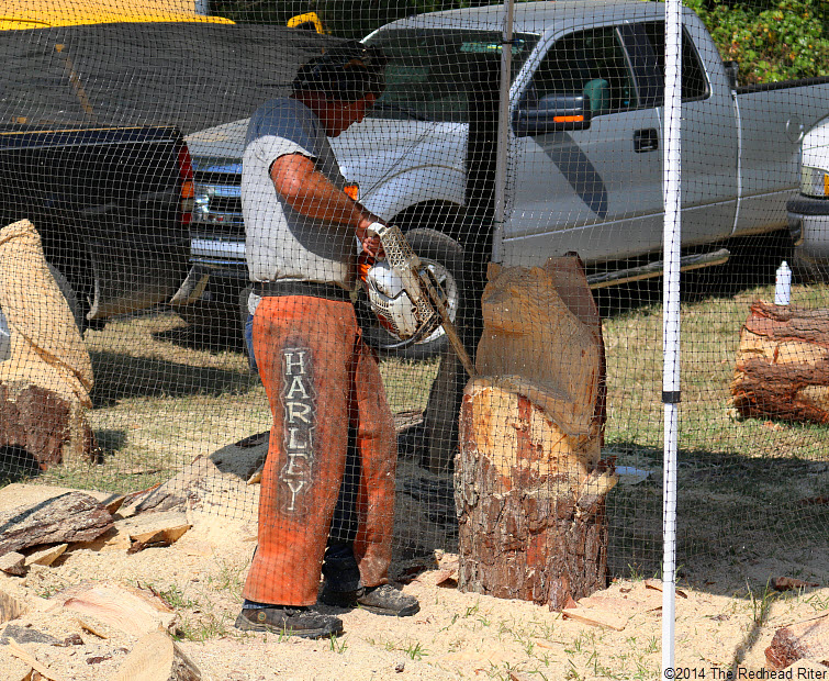 38 wood carver with electric saw Field Day Of The Past Rockville Virginia