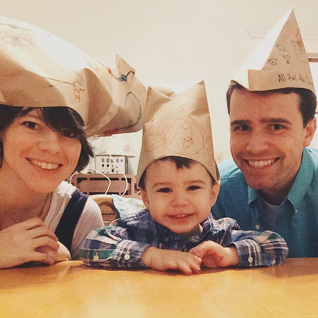 We also made paper hats. #guyfawkesday #paperhats #wemaybetheonlyamericanswhocelebratethisholiday #instaluther
