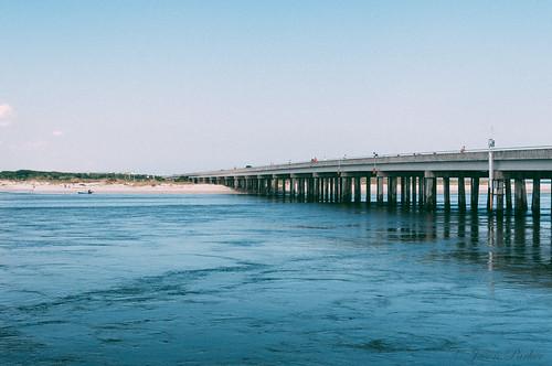 ocean bridge blue summer water sunshine river landscape nikon raw florida shore inlet grainy intercoastalwaterway lightroom matanzas a1a matanzasinlet matanzasriver nikond90 vsco vscofilm