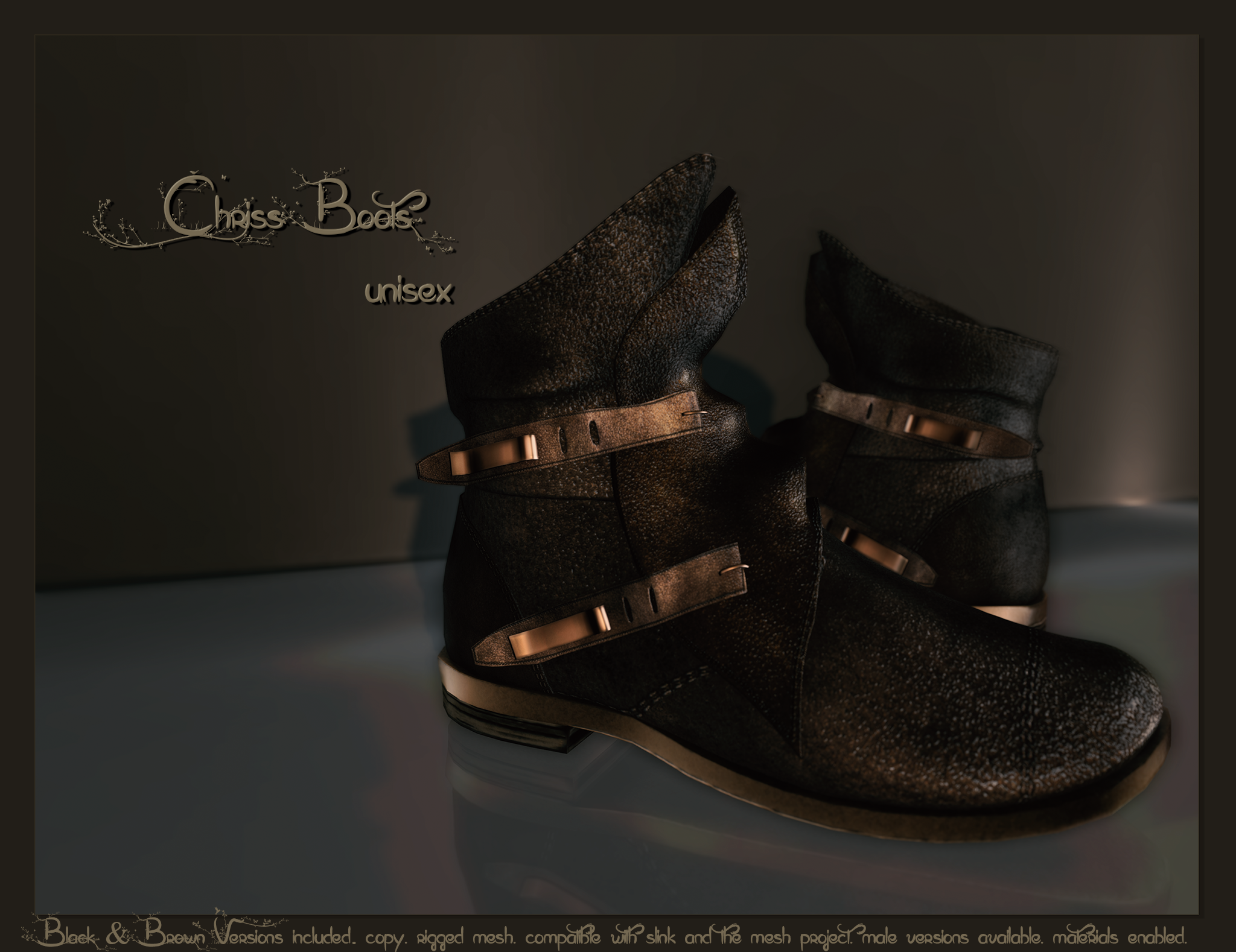 Pure Poison - Chriss Unisex Boots AD