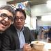 Avec James mon fidèle traducteur et ami du Zhejiang