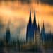 Dom, Brücke und Kirche in Köln von radonracer
