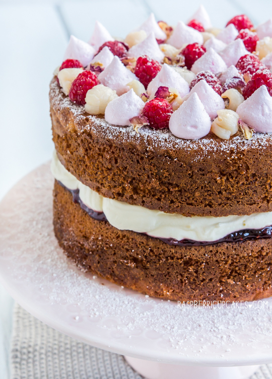 Raspberry, Rose and Lychee Sponge Cake