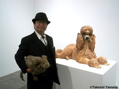 Seara (sea rabbit) and Dr. Takeshi Yamada visited the art exhibition of Jeff Koons at the Whitney Museum of American Art in Manhattan, NY on October 10, 2014. 20141010 186===C