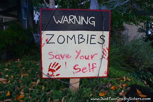 How to make a spooky zombie sign