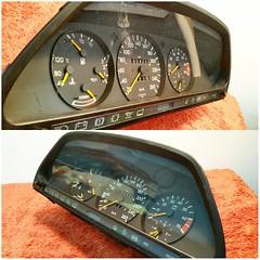 #For#Sale#Used#Parts#Mercedes#Benz#OEM#W126#SClass#alyehliparts#alyehli#UAE#AbuDhabi#AlFalah#City  For Sale Mercedes Benz OEM W126 S Class Used Parts :  W126 560SEC SPEEDOMETER CLUSTER  1265426860     (190426) KM On The Clock !  Part Number : 126 542 68 6