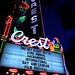 CREST theater marquis : night neon, sacramento, california (2014)