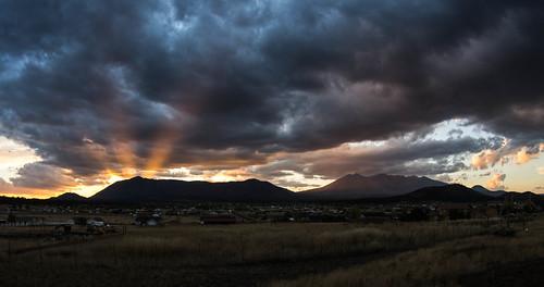sunset arizona sky panorama weather clouds landscape flagstaff sanfranciscopeaks autoimport