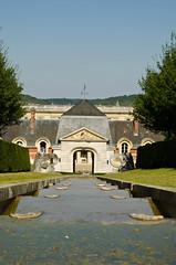 fountain in chateau de bizy