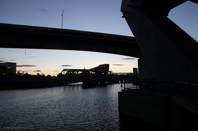 Charles River under Leveritt Connector