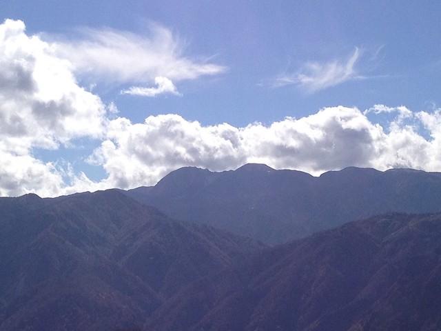 白山スーパー林道 ふくべ山展望台から白山アップ