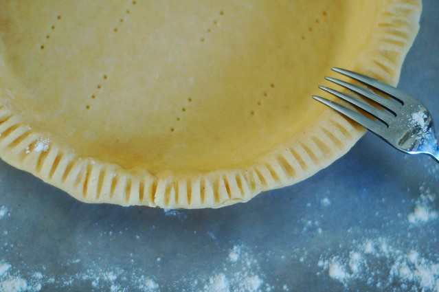 Crimping the edges of the pie crust by Eve Fox, The Garden of Eating, copyright 2014