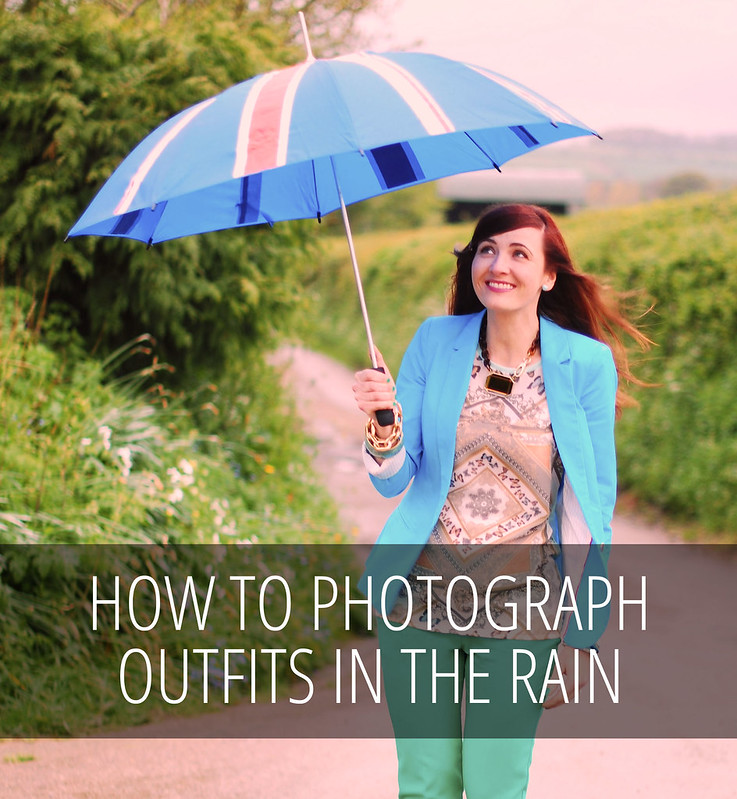 How to photograph outfits in the rain