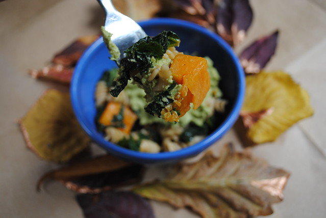 Butternut Kale Pasta with Pumpkin Seed Pesto