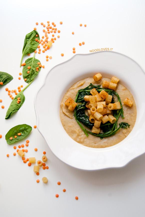 Crema di lenticchie e spinaci