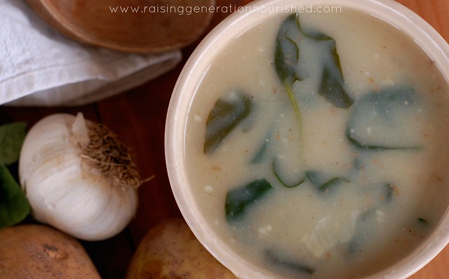Creamy Potato & Spinach Soup