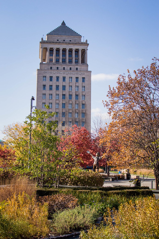 Citygarden in St. Louis during Fall Autumn