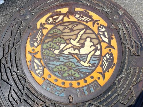 Yaizu Shizuoka, manhole cover 2 (静岡県焼津市のマンホール2)