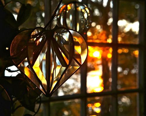 autumn sunset window bokeh maine prisms refractedlight