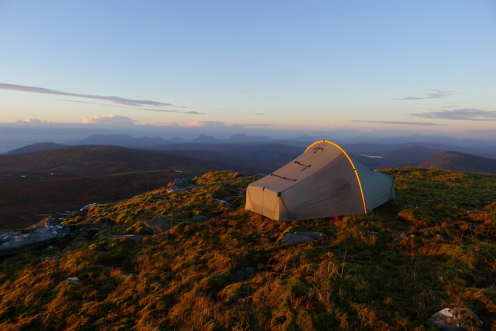 Wild camping with views to Assynt