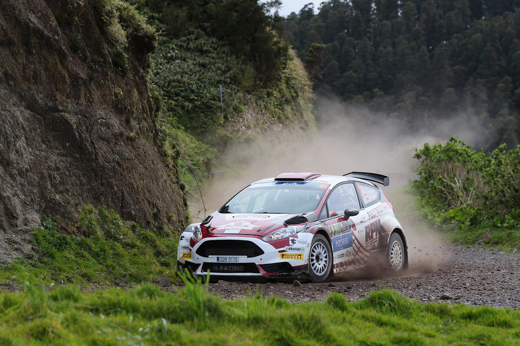 02 LUKYANUK Alexey ARNAUTOV Alexey Ford Fiesta R5 Action during the 2017 European Rally Championship ERC Azores rally,  from March 30  to April 1, at Ponta Delgada Portugal - Photo Gregory Lenormand / DPPI