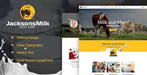 Dairy Farm WordPress Theme free download