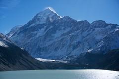 Hooker Glacier and Aoraki Mt Cook