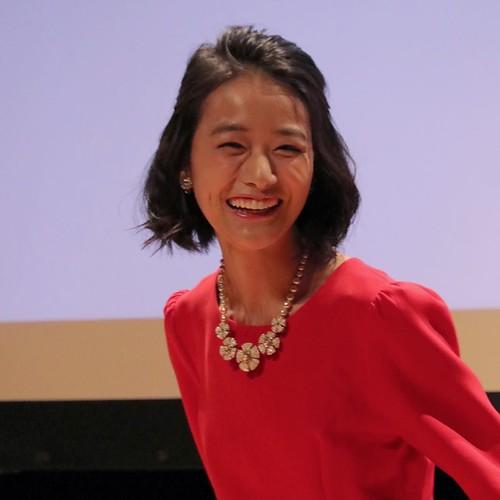 女優の安田早紀さん、笑顔が素敵。 #lovecanada150