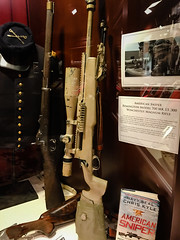 The American Sniper Rifle display at NRA National Firearms Museum Fairfax VA