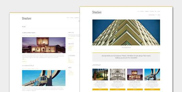 Structure WordPress Theme free download