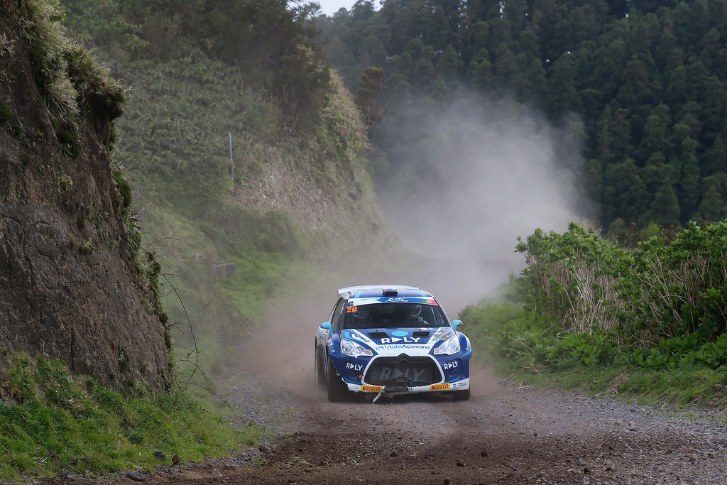 20 RODRIGUES Ruben RODRIGUES Estevao Citroen DS3R5 Action during the 2017 European Rally Championship ERC Azores rally,  from March 30  to April 1, at Ponta Delgada Portugal - Photo Gregory Lenormand / DPPI
