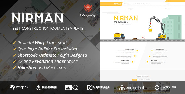 Nirman v1.0.3 - Professional Construction Joomla Template