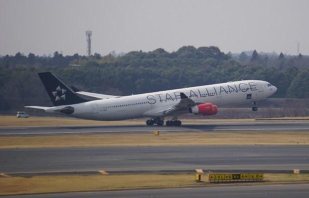 170415 成田空港展望台スタアラ塗装機ANA