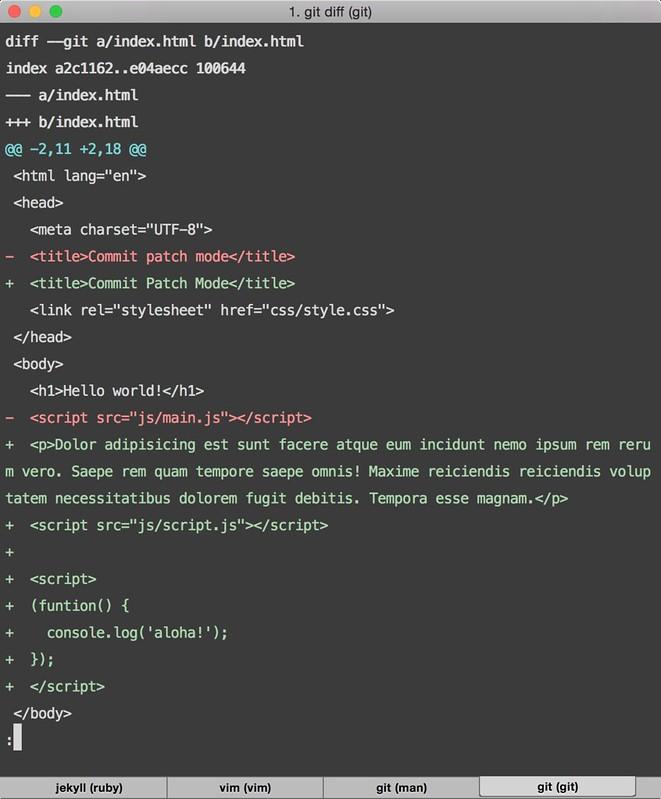 modified code