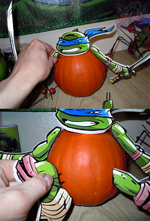 "PTI Group :: Nickelodeon  TEENAGE MUTANT NINJA TURTLES;  ""LEONARDO""  PUMPKIN PUSH-INS vii  (( 2014 ))"