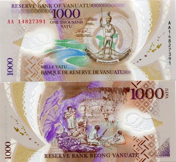 1000 Vatu Vanuatu 2014, polymer