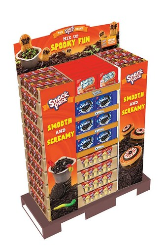 Ghost in the Graveyard Halloween Snack Pack Pudding Cups display.