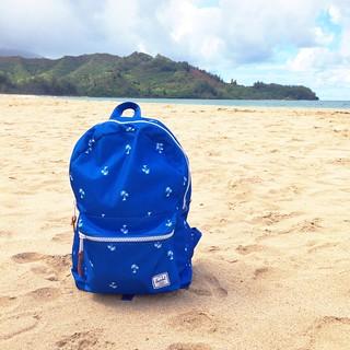 Herschel Bag in Hanalei Bay Na Pali Coast