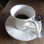 権現小屋でコーヒー