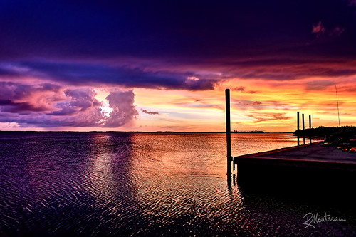sunset sea sky cloud pier colours florida lagoon everglades poles bluehour riccardo mantero potd:country=it