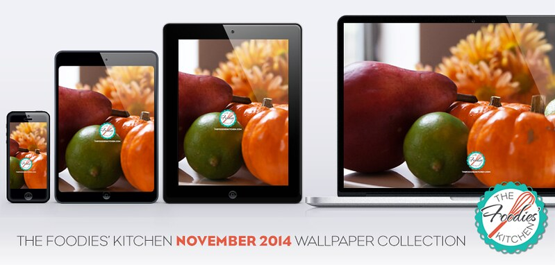 Foodies Freebie: November 2014 Wallpaper Collection
